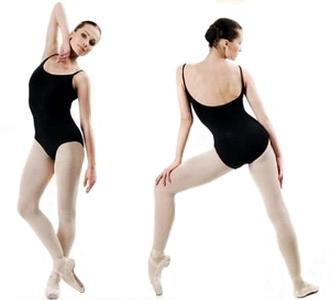 Sexy Women Black Coverall Ballet Leotard Gym Suit Strap Tights Gymnastics Backless Clothes Female Dancewear Dance Clothing-inBallet from Novelty & Special