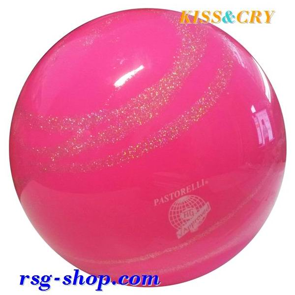 Ball Pastorelli Glitter KISS&CRY Pink-Silver 18 cm FIG Art 03231