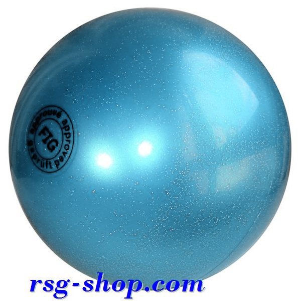 Ball 16 cm Metallic-Glitter col. Light Blue Art. T0291