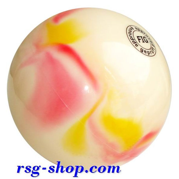 Ball 16 cm Metallic-Multicolor col. Pink-Yellow Art. T0098