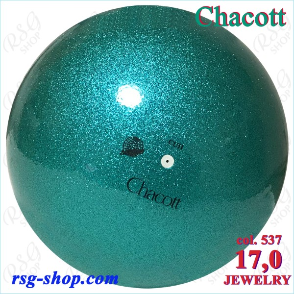 Ball Chacott Practice Jewelry 17cm col. Emerald Green Art. 01698537