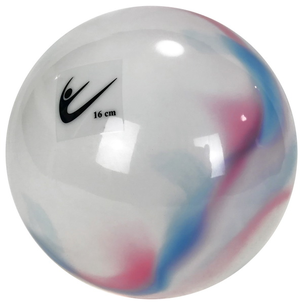 Ball 16 cm Metallic-Multicolor col. White-Blue-Pink Art. T0117