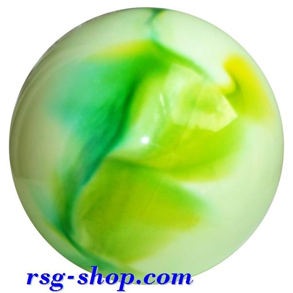 Ball 16 cm Metallic-Multicolor col. White-Green-Yellow Art T0118