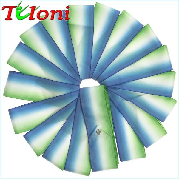 Dreifarbiges Band Tuloni 6m col. Blue-White-Green Art. T0876