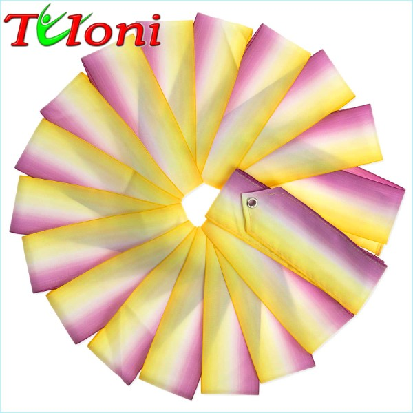 Dreifarbiges Band Tuloni 6m col. Yellow-White-Fuchsia Art. T0952