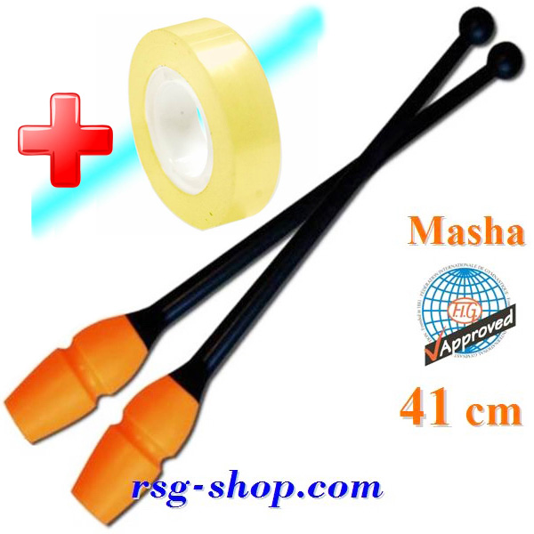 Keulen Pastorelli 41 cm Masha col. Black-Orange Art 02919 + Bonus