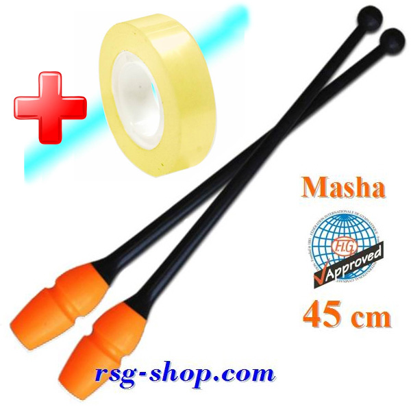 Keulen Pastorelli 45 cm Masha col. Black-Orange Art 02902 + Bonus