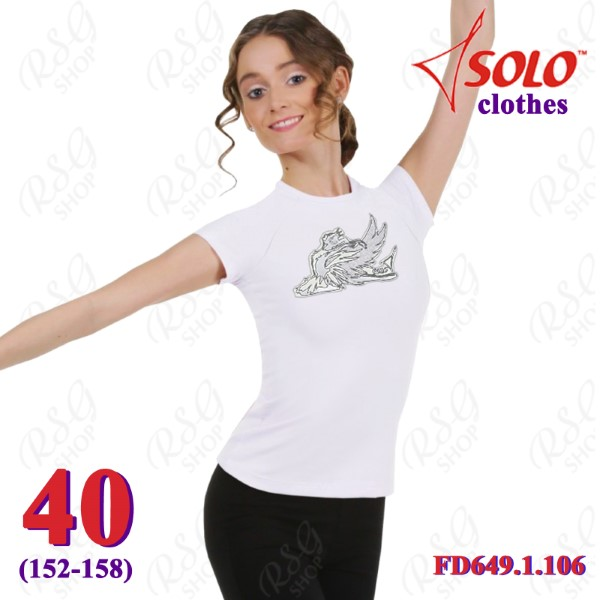 T-Shirt Solo Swan s. 40 (152-158) col. White FD649.1.106-40