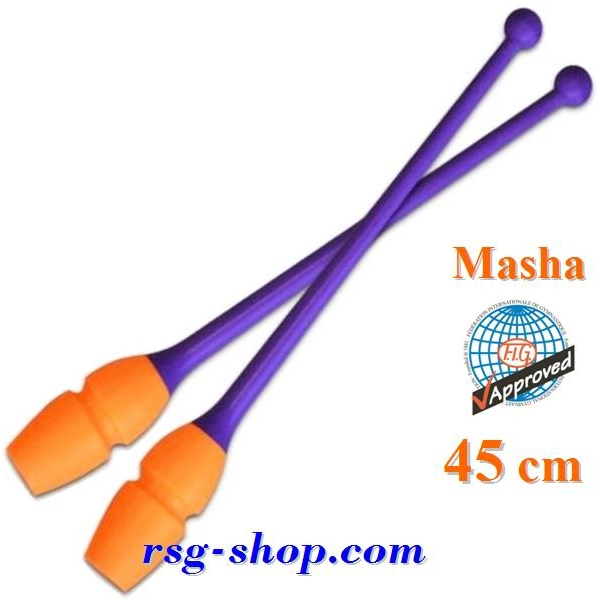 Keulen Pastorelli 45 cm mod Masha col Viola-Orange FIG Art 02907