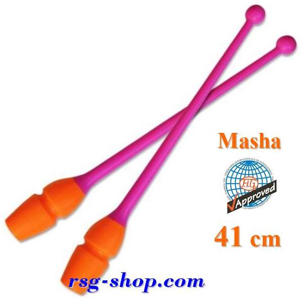 Keulen Pastorelli 41 cm Masha col. Rosa-Orange FIG 03643