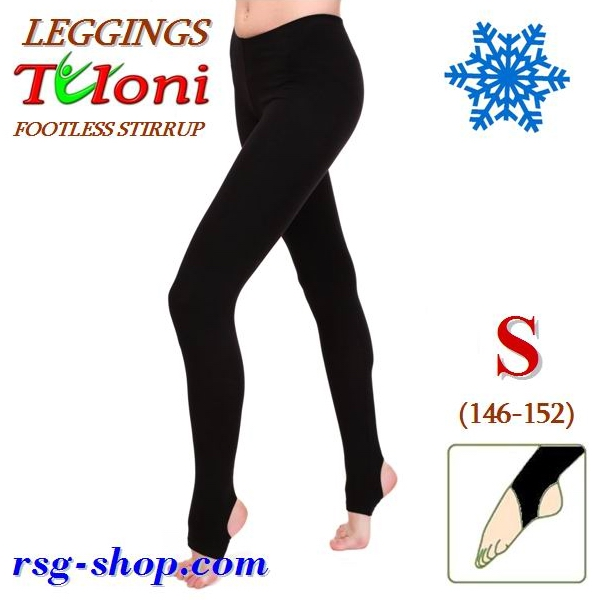 Winterleggings Tuloni Gr. S (146-152) Schwarz T0129V-BS