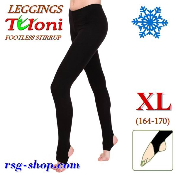 Winterleggings Tuloni Gr. XL (164-170) Schwarz T0129V-BXL