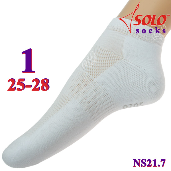 Socken Solo NS21 col. White s. 1 (25-28) Art. NS21.7-1