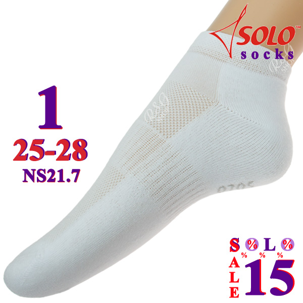 3 x Paar Socken Solo NS21 col. White s. 1 (25-28) Art. NS21.7-1