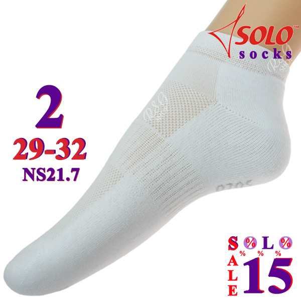 3 x Paar Socken Solo NS21 col. White s. 2 (29-32) Art. NS21.7-2