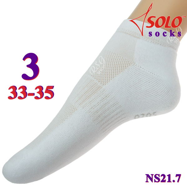 Socken Solo NS21 col. White s. 3 (33-35) Art. NS21.7-3