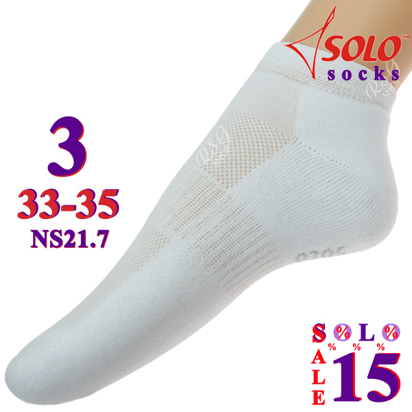 3 x Paar Socken Solo NS21 col. White s. 3 (33-35) Art. NS21.7-3
