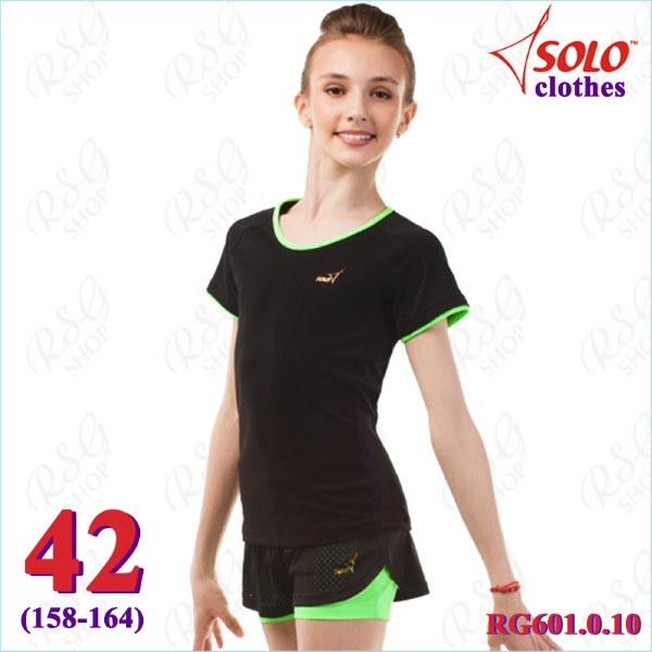 T-Shirt Solo Gr. 42 (158-164) col. Black-Neon Green Art. RG601.0.10-42