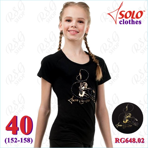 T-Shirt Solo s. 40 (152-158) Cotton Black RG648.02.107-40