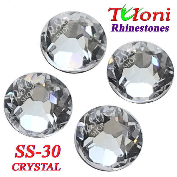 Strass Tuloni SS30 Crystal 288 pcs mod. Elite HotFix Flat Back