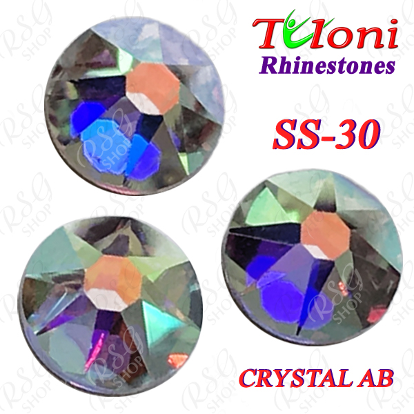 Strass Tuloni SS30 Crystal AB 288 pcs No HotFix Flat Back