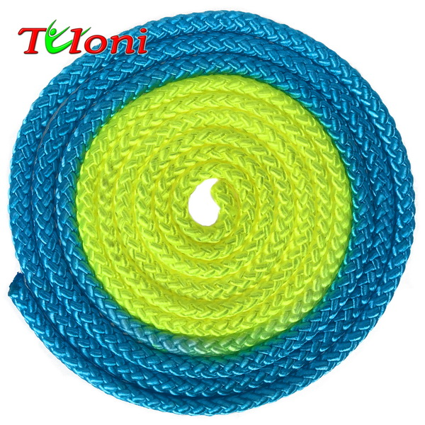 Seil Tuloni Bi-col. Neon Blue - Yellow Art. T0920