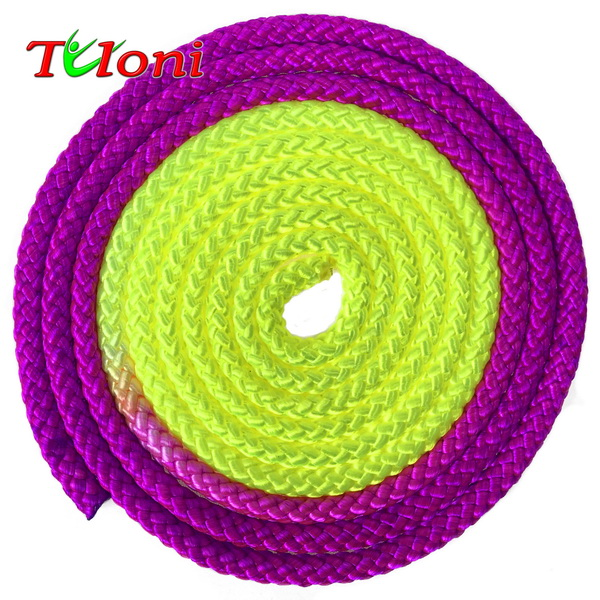 Seil Tuloni Bi-col. Neon Purple - Yellow Art. T0950