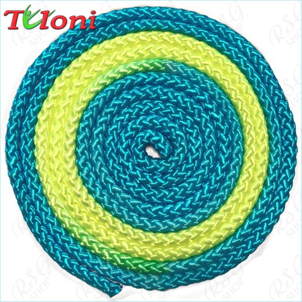 Seil Tuloni Bi-col. Blue-Neon_Yellow-Blue Art. T0981