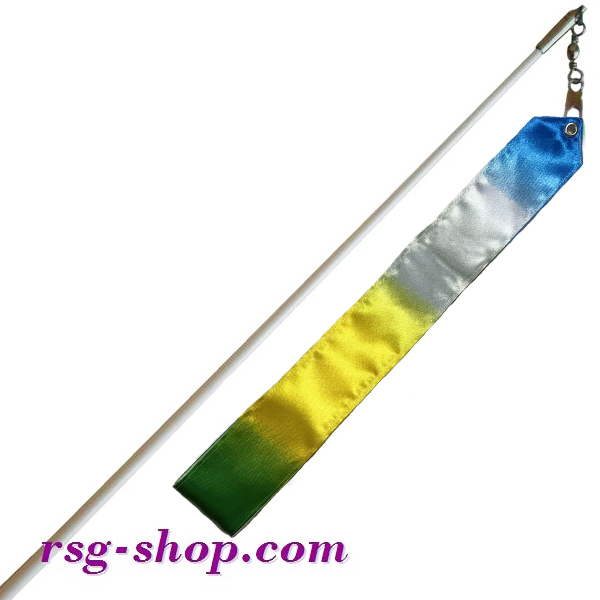 Weißer Stab 60cm & Band 6m in Yellow-Blue-Green-White T0186