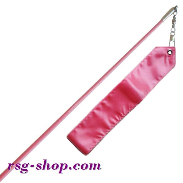 Einfarbiger Stab 60cm & Band 6m in Pink incl. Griff Art. T0075