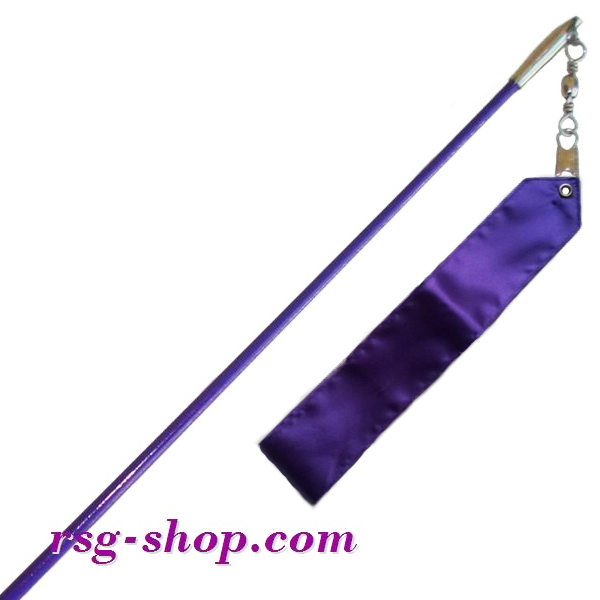 Einfarbiger Stab 60cm & Band 6m in Viola incl. Griff Art. T0076