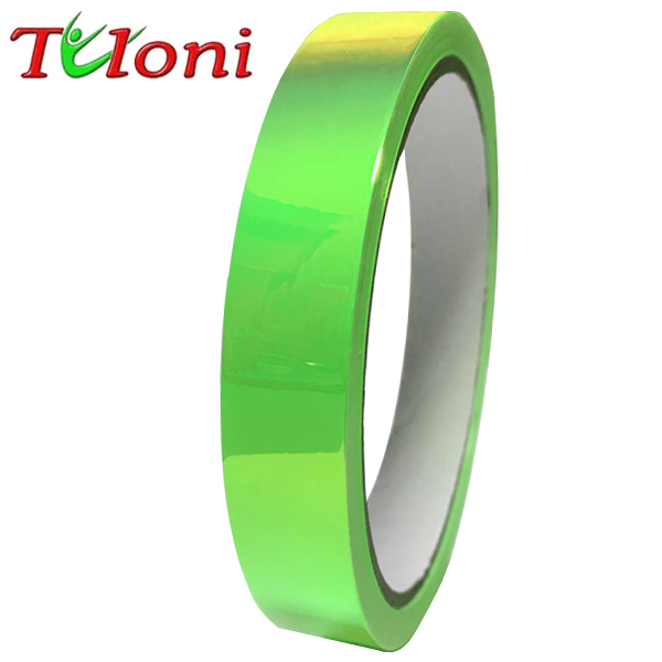 Holographic Folie Tuloni 1,5cm x 33m col. Neon Green T0961