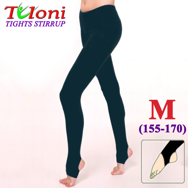 Dance Stirrup Tights Tuloni 100 DEN col. Black s. M (155-170) T0957-M