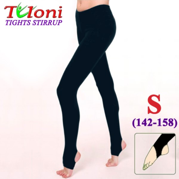 Dance Stirrup Tights Tuloni 100 DEN col. Black s. S (142-158) T0957-S