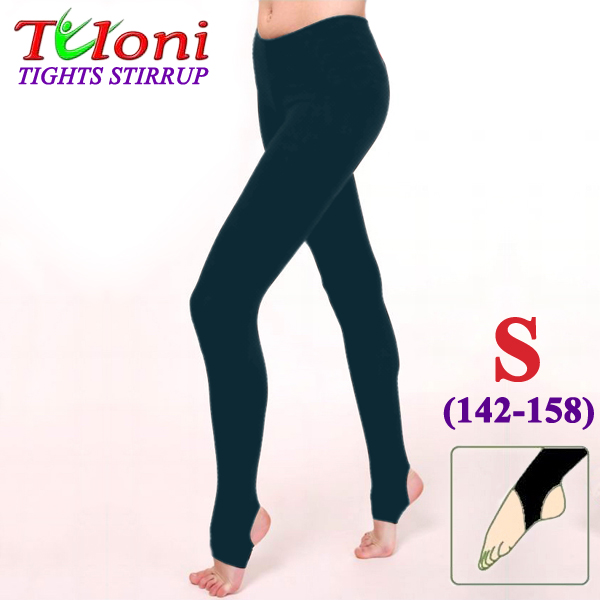 Dance Stirrup Tights Tuloni col. Black 100 DEN s. S (142-158) T0957-S