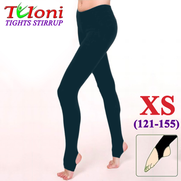 Dance Stirrup Tights Tuloni col. Black 100 DEN s. XS (121-145) T0957-XS