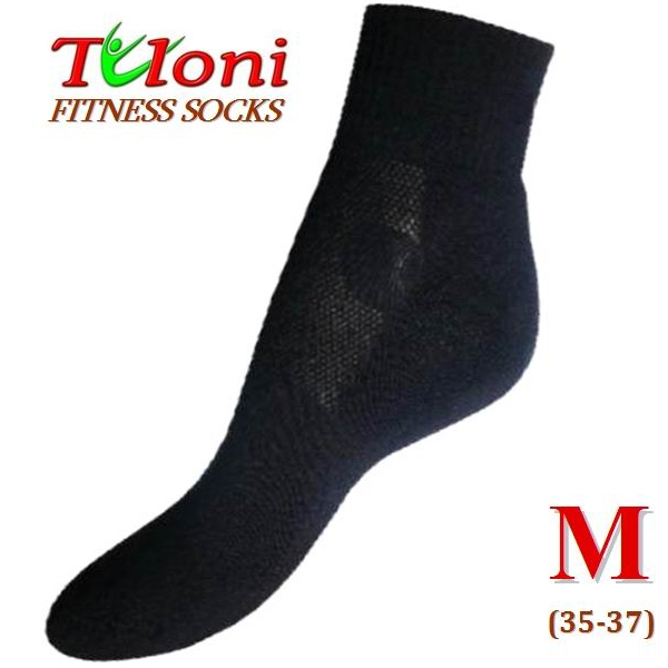 Multifunktionale Fitness Socken Tuloni Black Gr M (35-37) T0995M