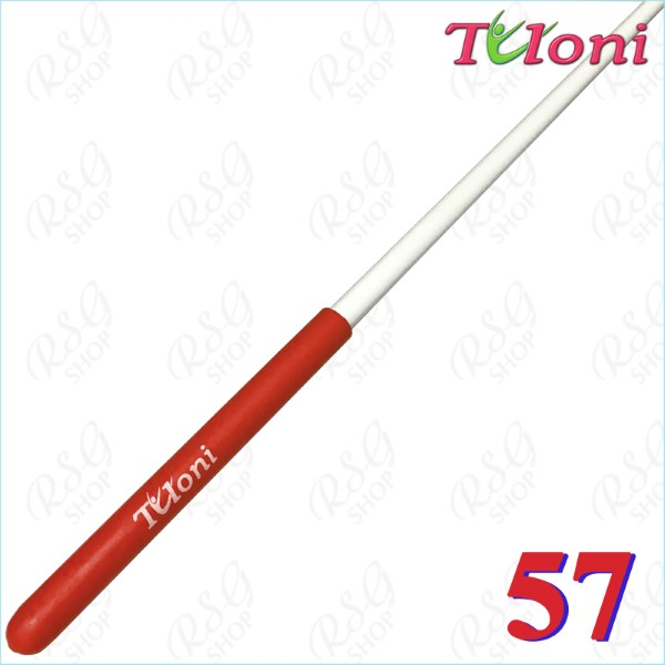 Stab 57cm Tuloni col. White incl. Red Grip Art. T0911