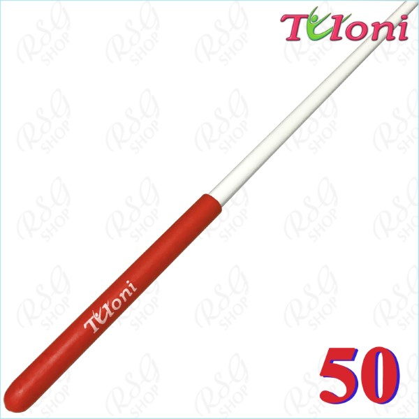Stab 50cm Tuloni col. White incl. Red Grip Art. T0912